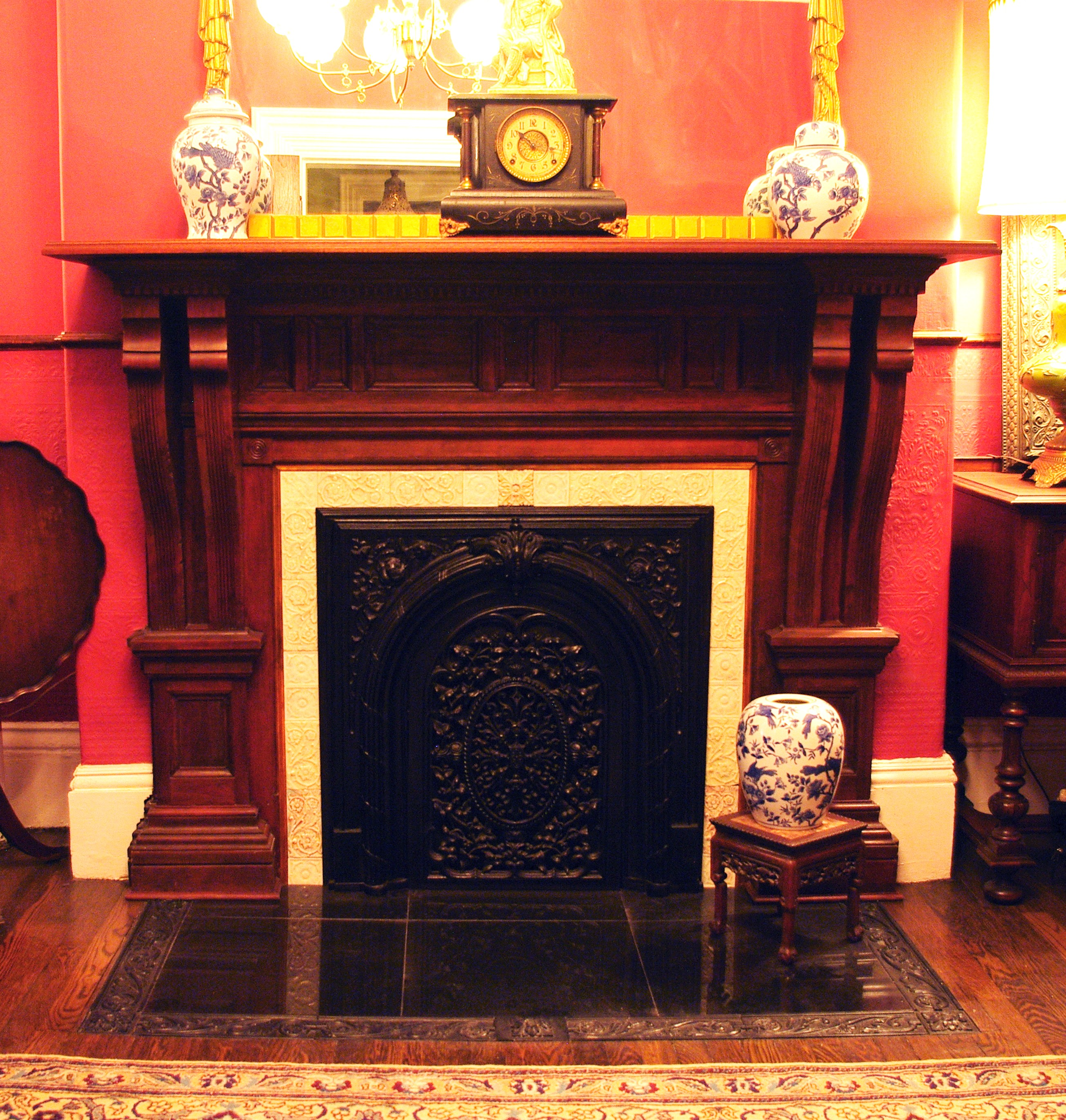 Portfolio old boston interior architectural restoration Victorian fireplace restoration